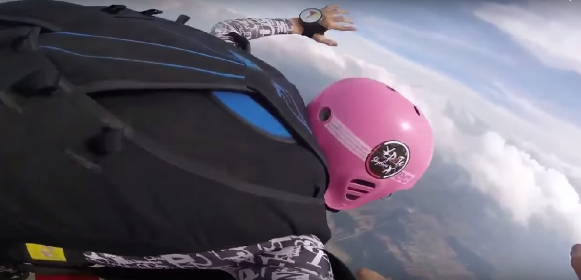 Father Saves Son Mid-Air While Skydiving