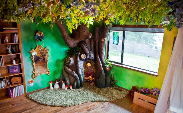 Father Builds A Fairytale Tree House For His Daughter