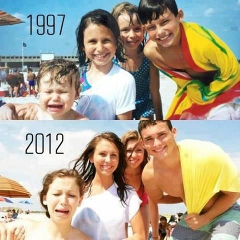 Funny Family Then And Now Images
