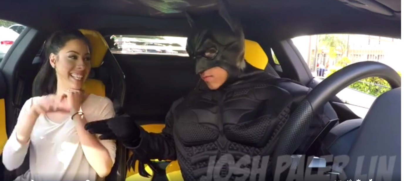 Passengers Dial Uber For A Ride, Batman Shows Up In His Batmobile