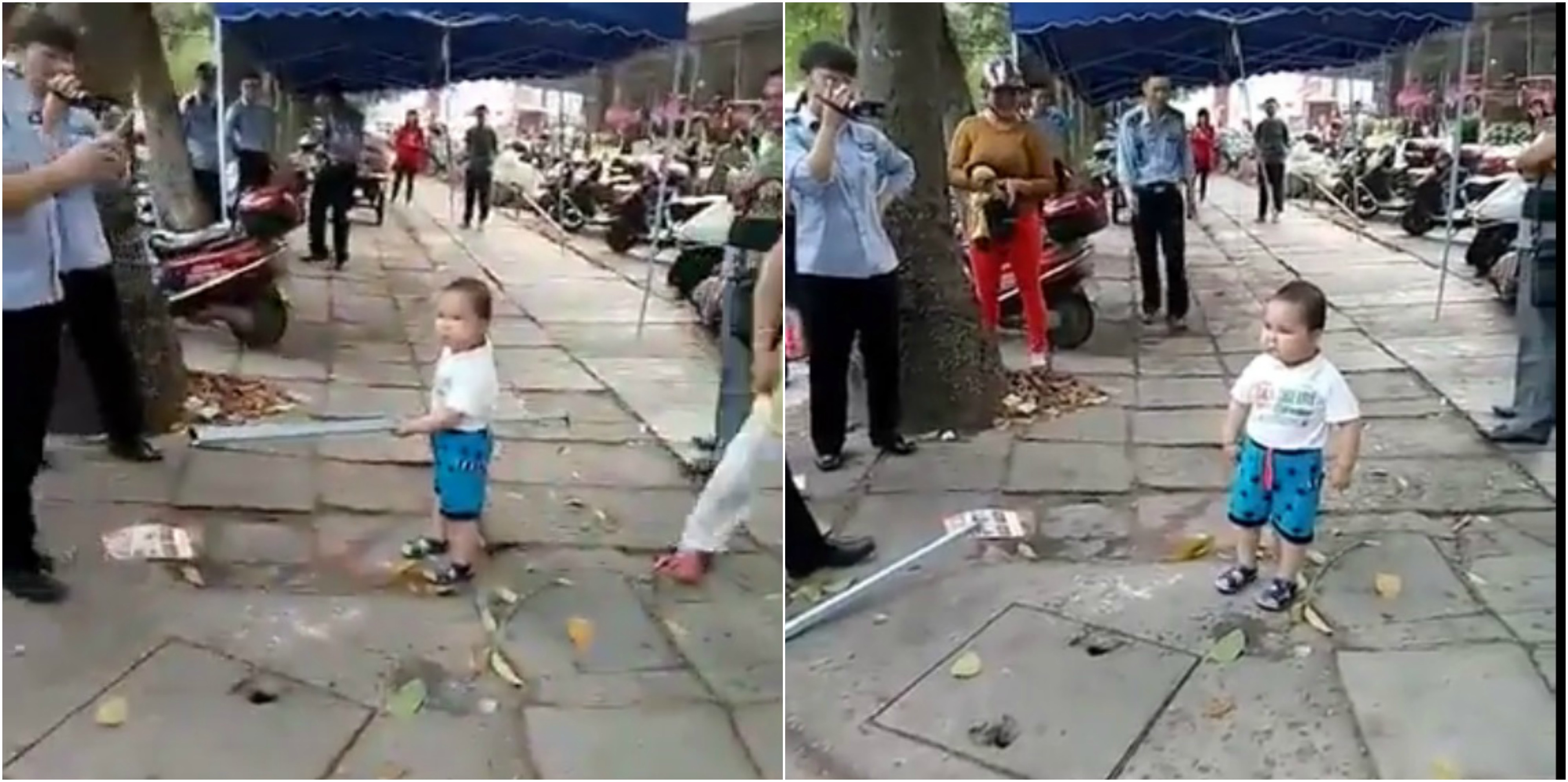 Adorable Anger: This is How Toddler Defends His Grandmother; Watch Video