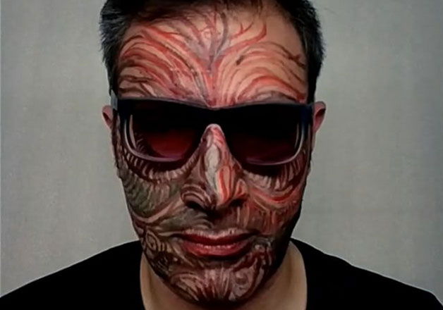 Face is the Canvas: Tehran artist paints his own face for Instagram project & it's ...