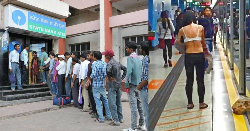 Tired Of Standing For Hours In The ATM Queue, This Delhi Woman Took Her Shirt Off In ...