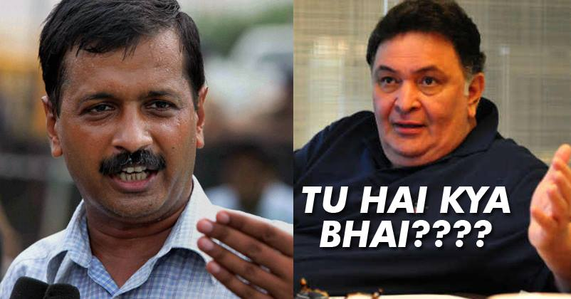 The Way Rishi Kapoor Slammed Kejriwal On Demonetization Is Simply Epic!